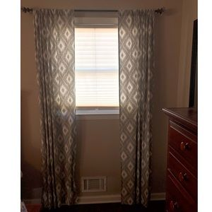 Other - Tray & white curtains (set of two)
